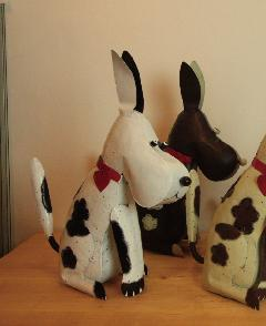 アイアン キャンドルスタンド/白い犬 DRONA0012 【アジアン雑貨】【バリ雑貨】