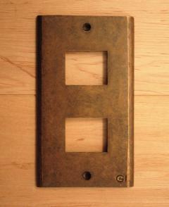 真鍮 スイッチプレート/スイッチカバーPL02AN(790052)