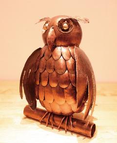 アイアン 雑貨・置物/フクロウオブジェ01/AZODRONA0015 【アジアン雑貨】【バリ雑貨】