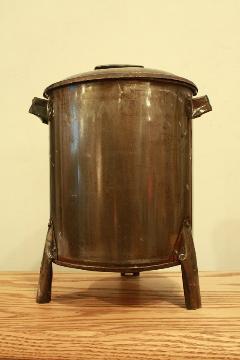 ドラム缶ゴミ箱/ダストボックス(小)-GRY01