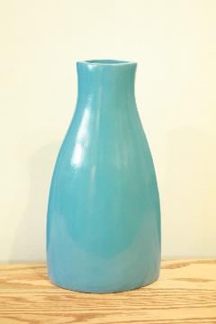 花器、フラワーベース(素焼き)スカイブルーブルーム04