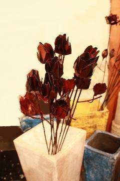 アイアン 雑貨・飾り/バラのつぼみ