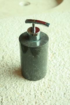 天然石(大理石)洗剤ディスペンサーボトル 黒系Sサイズ