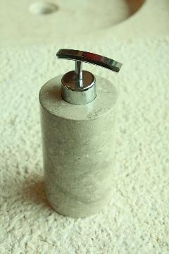 天然石(大理石)洗剤ディスペンサーボトル ベージュグレーMサイズ