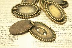 真鍮・ネームプレート(オーバル)