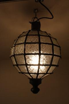 アイアン&ガラス ペンダントランプシェード(吊り下げ照明/ペンダントライト)MAクリア01
