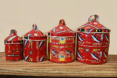 ブリキ 雑貨・置物・缶/ディスプレイ缶(青い魚)/AZOMASE-B