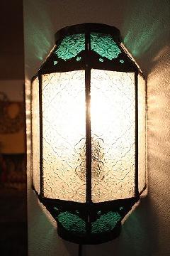 アイアン&ガラス ウォールランプシェード(壁掛け照明/ブラケットライト)MAライトグリーン