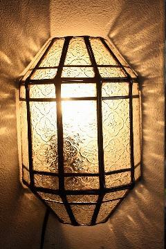 アイアン&ガラス ウォールランプシェード(壁掛け照明/ブラケットライト)MAクリア08