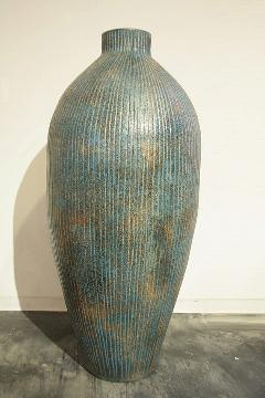 花器、フラワーベース(素焼き)青花器