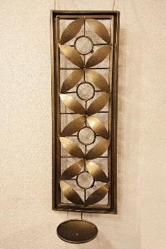 アイアン 壁掛けキャンドルホルダー(花)