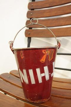 リサイクルドラムポット赤 バケツ M