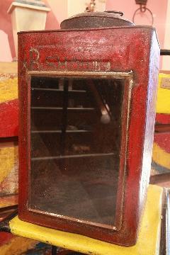 ブリキボックス(一斗缶) レッド