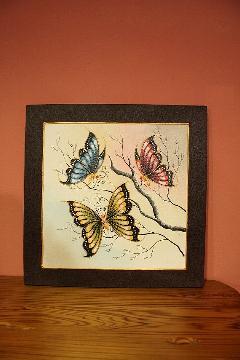 400×400 蝶 (アートパネル、アート絵画、ハンドメイド)