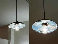 リサイクルドラム ランプシェードS ライトブルー