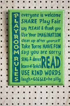 Rules Playroom A