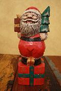 木製置物 サンタ プレゼント
