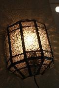 アイアン&ガラス ウォールランプシェード(壁掛け照明/ブラケットライト)クリア06