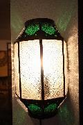 アイアン&ガラス ウォールランプシェード(壁掛け照明/ブラケットライト)MAグリーン02