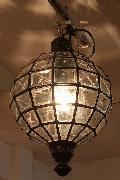 アイアン&ガラス ペンダントランプシェード(吊り下げ照明/ペンダントライト)MAクリア09