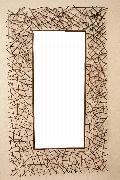 アイアン 壁掛けミラー/鏡 (小枝) � 古金色