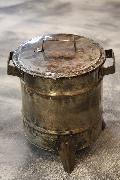 ドラム缶ゴミ箱/ダストボックス シルバー(ミニ)