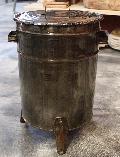ドラム缶ゴミ箱/ダストボックス シルバー(小)