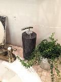 天然石(大理石)洗剤ディスペンサーボトル 黒系Lサイズ