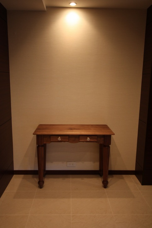 ウオールナット材 コンソールテーブル