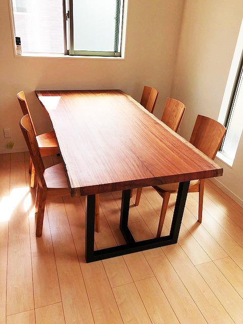 マホガニー 一枚板テーブル