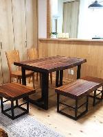 一枚板テーブル ウォールナット 一枚板ベンチ バスラローカス