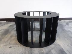1枚板天板用(座卓)オリジナル脚 (黒・O型)L0001