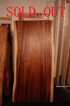 1枚板天板 (モンキーポッド)T0095