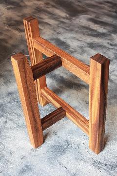 一枚板テーブル用 モンキーポッド F型脚  L0027