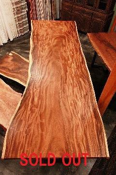 巨大 一枚板天板 (モンキーポッド)T0086