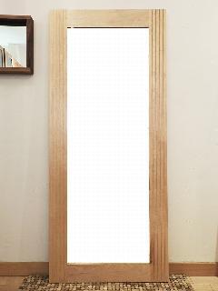 ウォールミラー カバ桜材 MIR006