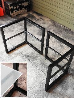 W800×D290 8mm厚 クリアガラス (TVボード用L型脚対応) NS-TVglass0006
