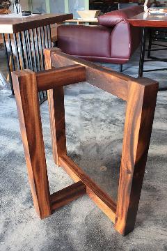 一枚板テーブル・座卓兼用脚 モンキーポッドT型  NS-LT0001