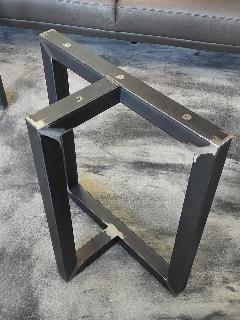 一枚板テーブル・座卓兼用脚 アイアン50角T型(黒皮仕上) NS-LT0016