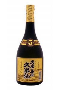 久米島の久米仙 ブラック5年  泡盛40度 720ml
