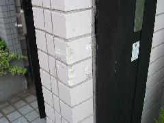 東京都品川区 個人邸門柱補修工事