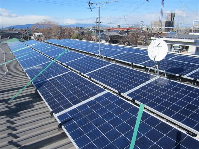 太陽光パネルの設置