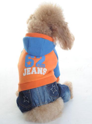 ジーンズジャンプスーツ (オレンジ)S-XL