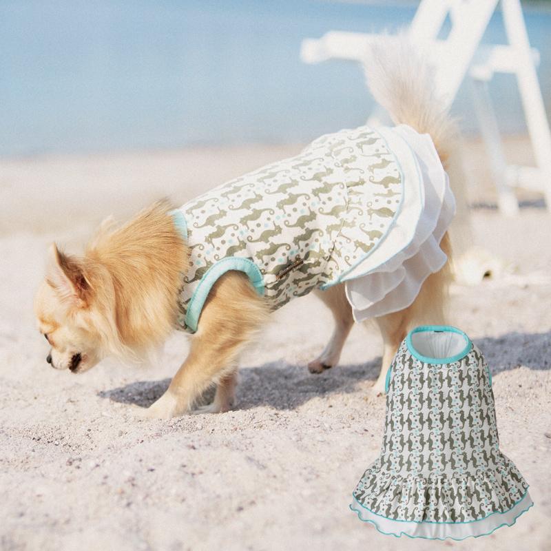 春夏ペットの洋服 シーホースワンピース