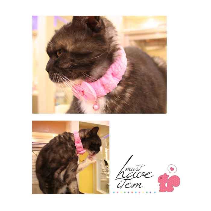 猫用 ハートスカーフカラー 首輪 HEART