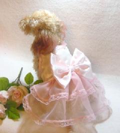 ベビーピンクリボンドレス