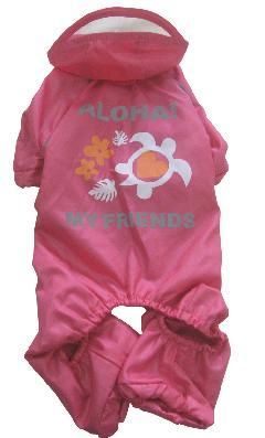 アロハレインロンパース ピンク