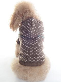 クラシカルフードセーター (ブラウン)S-L