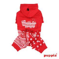 犬の服 HAPPY STAR パーカジャンプスーツ(S〜L)