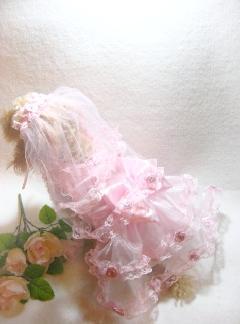 薔薇いっぱいのお姫様ウェディングドレスのヴェール